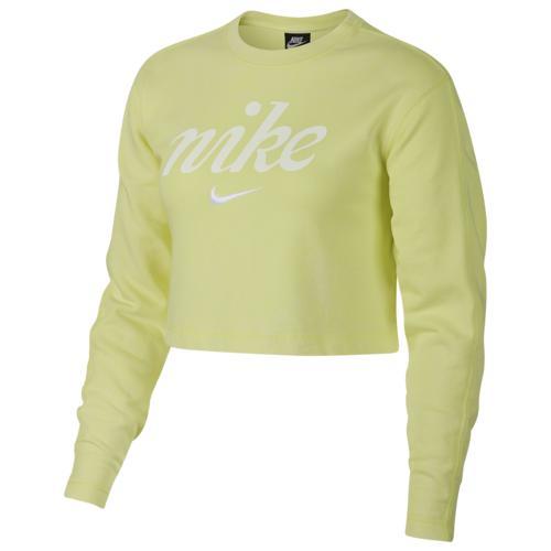 (取寄)ナイキ レディース ウォッシュド クロップ クルー Nike Women's Washed Crop Crew Yellow