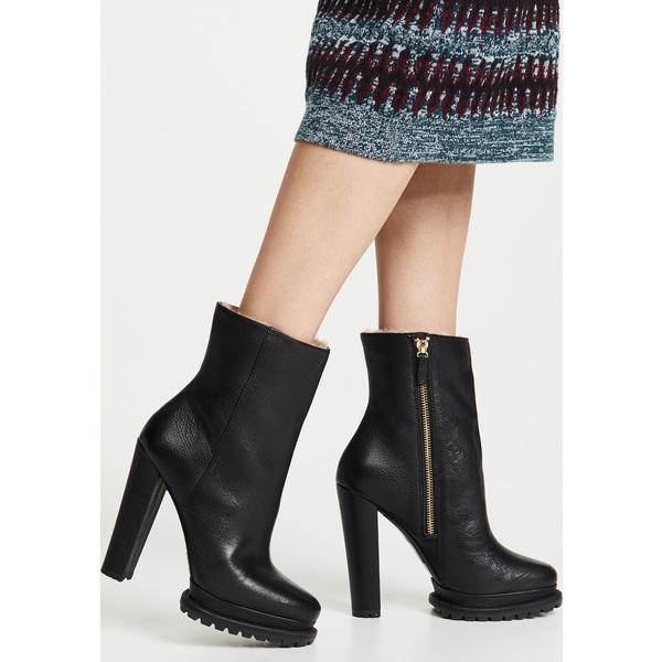 【マラソン ポイント10倍】(取寄)アリス アンド オリビア レディース ホールデン プラットフォーム ブーツ alice + olivia Women's Holden Platform Boots Black