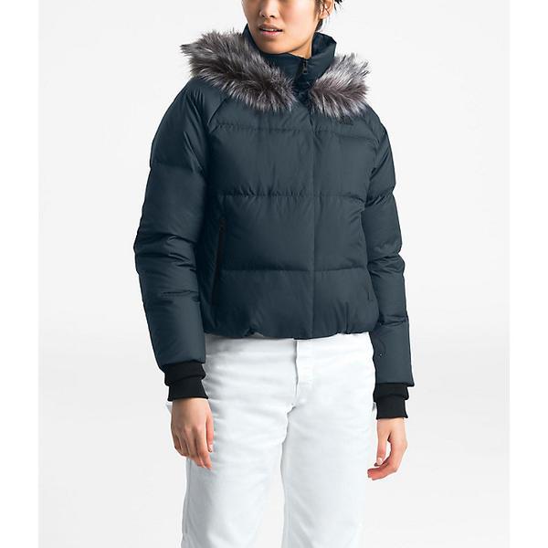 【マラソン ポイント10倍】(取寄)ノースフェイス レディース ディリオ ダウン クロップ ジャケット The North Face Women's Dealio Down Crop Jacket Urban Navy