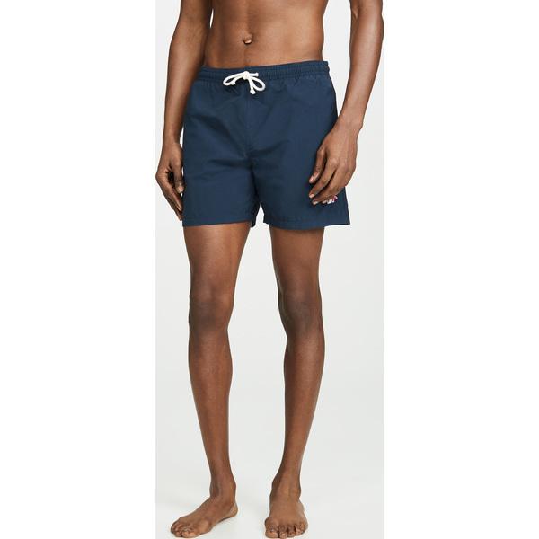 【エントリーでポイント10倍】(取寄)メゾンキツネ トリコロール フォックス スイム ショーツ Maison Kitsune Tricolor Fox Swim Shorts Navy