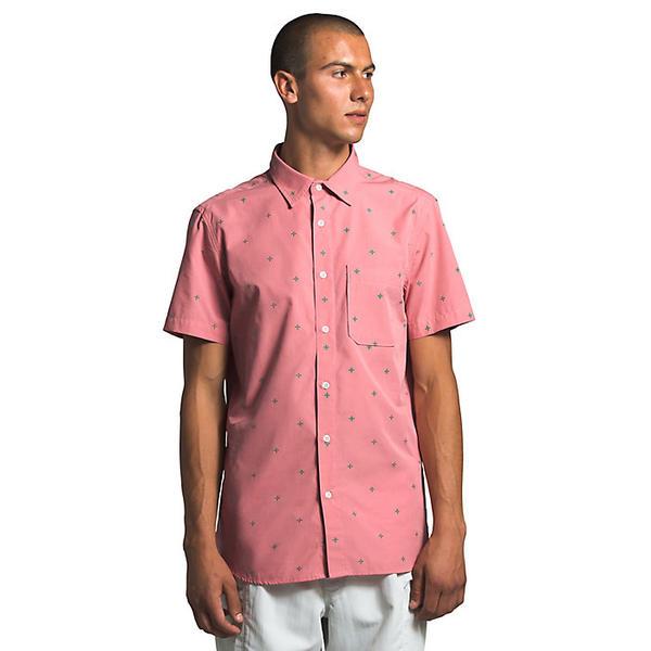 【エントリーでポイント10倍】(取寄)ノースフェイス メンズ ベイトレイル ジャック SS シャツ The North Face Men's Baytrail Jacq SS Shirt Mauveglow Cross Clip Jacquard