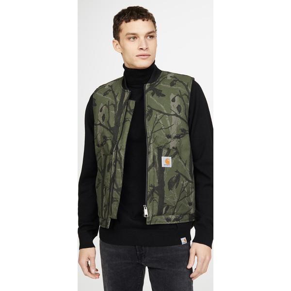 【エントリーでポイント10倍】(取寄)カーハート ダブリューアイピー メンズ キャンバス ワーク ベスト Carhartt WIP Men's Men's Canvas Work Vest CamoTreeGreen