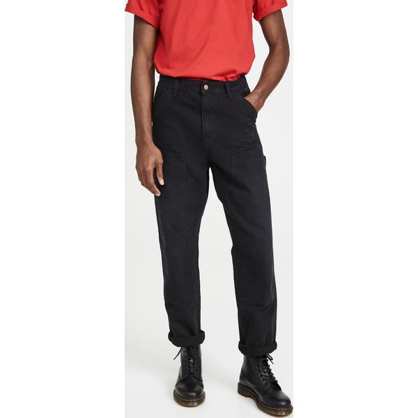【エントリーでポイント10倍】(取寄)カーハート ダブリューアイピー メンズ エイジド キャンバス ダブル ニー パンツ Carhartt WIP Men's Men's Aged Canvas Double Knee Pants BlackAged