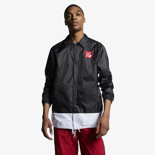 【エントリーでポイント10倍】(取寄)ジョーダン メンズ レトロ 4 コーチ ジャケット Jordan Men's Retro 4 Coaches Jacket Black White