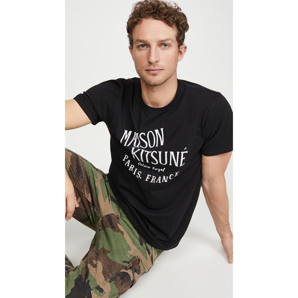 【エントリーでポイント10倍】(取寄)メゾンキツネ パレス ロイヤル Tシャツ Maison Kitsune Palais Royal T-Shirt Black
