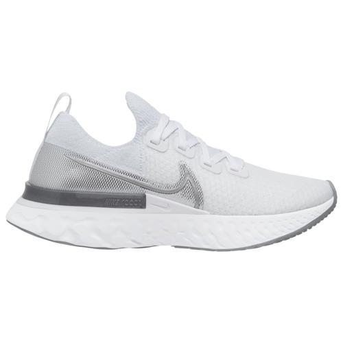 【マラソン ポイント10倍】(取寄)ナイキ レディース シューズ リアクト インフィニティ ラン フライニット Nike Women's Shoes React Infinity Run Flyknit True White Metallic Silver White