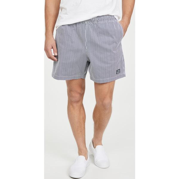【エントリーでポイント10倍】(取寄)オベイ イージー リラックスト ツイル ショーツ Obey Easy Relaxed Twill Shorts NavyMulti