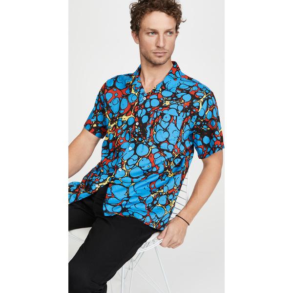 【エントリーでポイント10倍】(取寄)オベイ ショット スリーブ ボッチド シャツ Obey Short Sleeve Botched Shirt BlueMulti