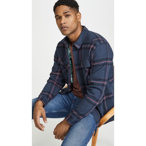 【エントリーでポイント10倍】(取寄)ルーカ メンズ イールド フランネル プレイド ロング スリーブ シャツ RVCA Men's Yield Flannel Plaid Long Sleeve Shirt Navy