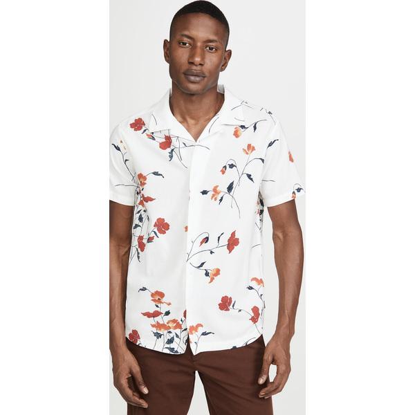 【エントリーでポイント10倍】(取寄)ルーカ メンズ ショット スリーブ ラザラス フローラル シャツ RVCA Men's Short Sleeve Lazarus Floral Shirt AntiqueWhite