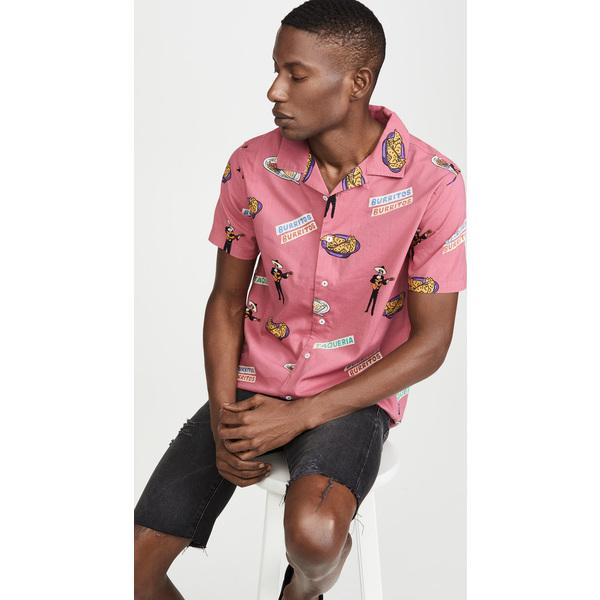【エントリーでポイント10倍】(取寄)ルーカ メンズ ホット ファッジ シャツ RVCA Men's Hot Fudge Shirt Pink