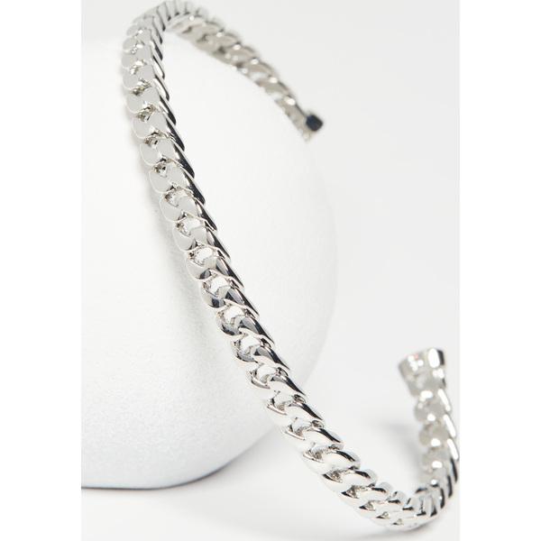 【マラソン ポイント10倍】(取寄)シャシ チェイン カフ ブレスレット Shashi Chain Cuff Bracelet Silver