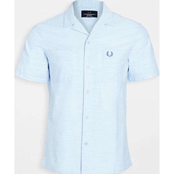 (取寄)フレッドペリー リバー カラー シャツ Fred Perry Rever Collar Shirt DustyBlue