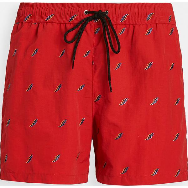 (取寄)ピーエス ポールスミス オール オーバー ライトニング ボルト スイム ショーツ PS Paul Smith All Over Lightning Bolt Swim Shorts Red