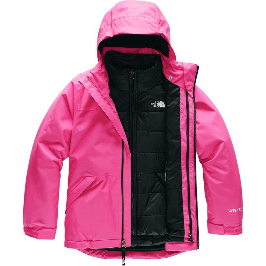 (取寄)ノースフェイス ガールズ フレッシュ トラックス トリクラメイト フーデッド ジャケット The North Face Girls Fresh Tracks Triclimate Hooded Jacket Mr. Pink