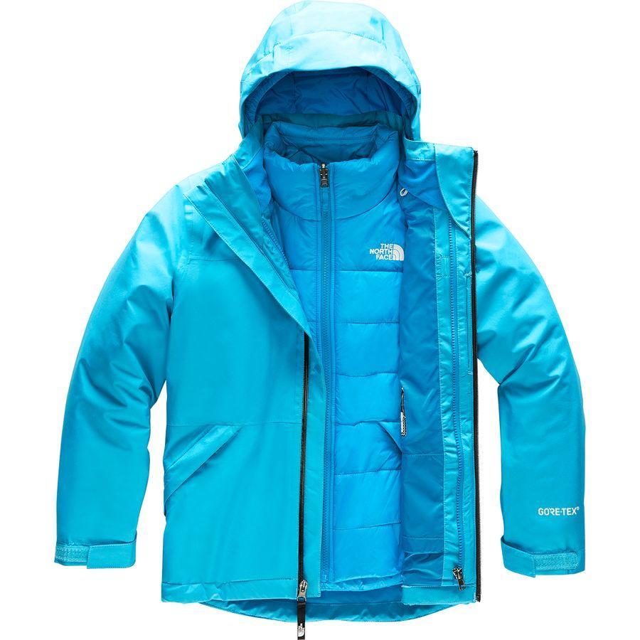 (取寄)ノースフェイス ガールズ フレッシュ トラックス トリクラメイト フーデッド ジャケット The North Face Girls Fresh Tracks Triclimate Hooded Jacket Turquoise Blue