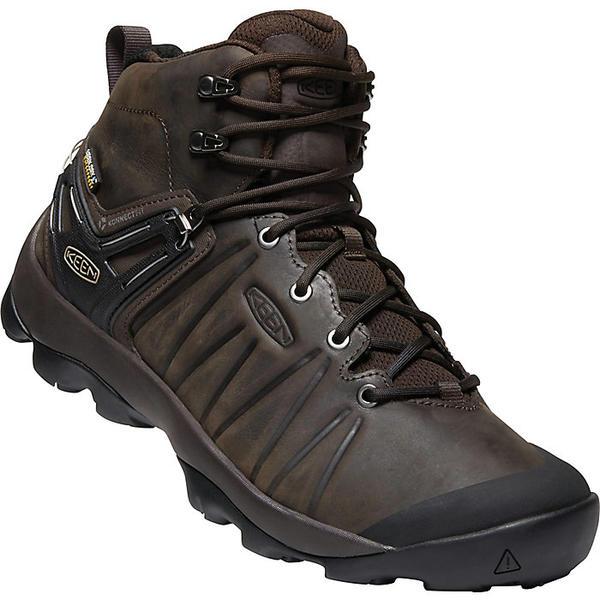 【マラソン ポイント10倍】(取寄)キーン メンズ ベンチャー ミッド レザー WP ブーツ Keen Men's Venture Mid Leather WP Boot Mulch / Black