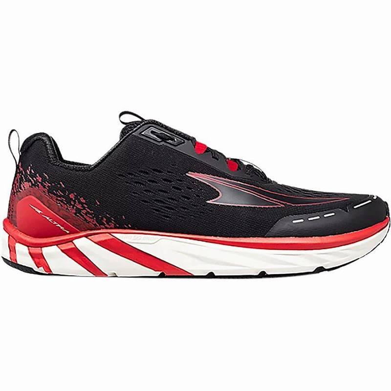 【マラソン ポイント10倍】(取寄)アルトラ メンズ トーリン 4 ランニング シューズ Altra Men's Torin 4 Running Shoe Running Shoes Black/Red