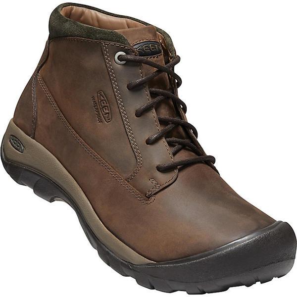 【マラソン ポイント10倍】(取寄)キーン メンズ オースティン カジュアル ウォータープルーフ ブーツ KEEN Men's Austin Casual Waterproof Boot Chocolate Brown / Black Olive