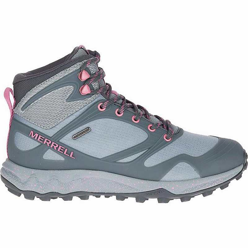 【マラソン ポイント10倍】(取寄)メレル レディース オルタライト ミッド ハイキング ブーツ Merrell Women Altalight Mid Hiking Boot Monument/Erica