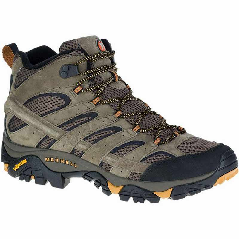 【マラソン ポイント10倍】(取寄)メレル メンズ モアブ 2 ベント ミッドワイド ハイキング ブーツ Merrell Men's Moab 2 Vent Mid Wide Hiking Boot Walnut