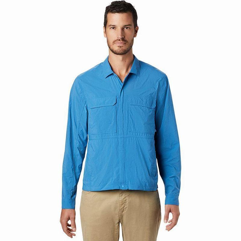 (取寄)マウンテンハードウェア メンズ エコー レイク ロングスリーブ シャツ Mountain Hardwear Men's Echo Lake Long-Sleeve Shirt Deep Lake