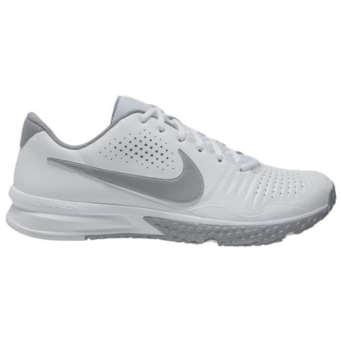 【マラソン ポイント10倍】(取寄)ナイキ メンズ シューズ アルファ ハラチ 3 バーシティ ターフ Nike Men's Shoes Alpha Huarache 3 Varsity Turf White Light Smoke Grey Smoke Grey