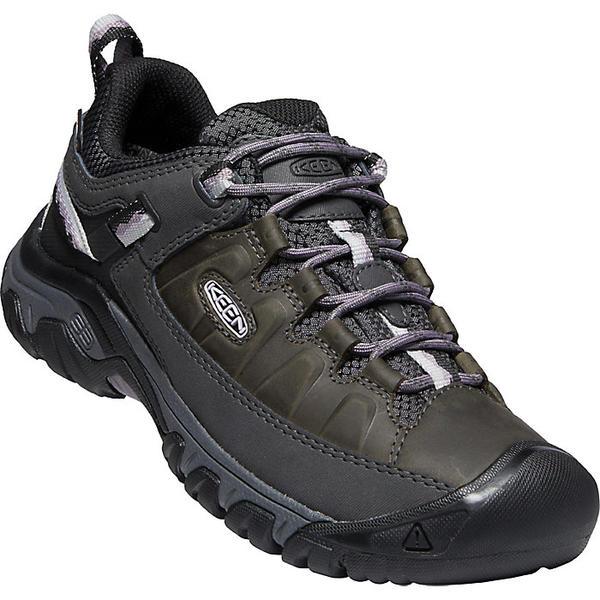 【マラソン ポイント10倍】(取寄)キーン レディース ターギー 3 ウォータープルーフ シュー Keen Women's Targhee III Waterproof Shoe Black / Thistle