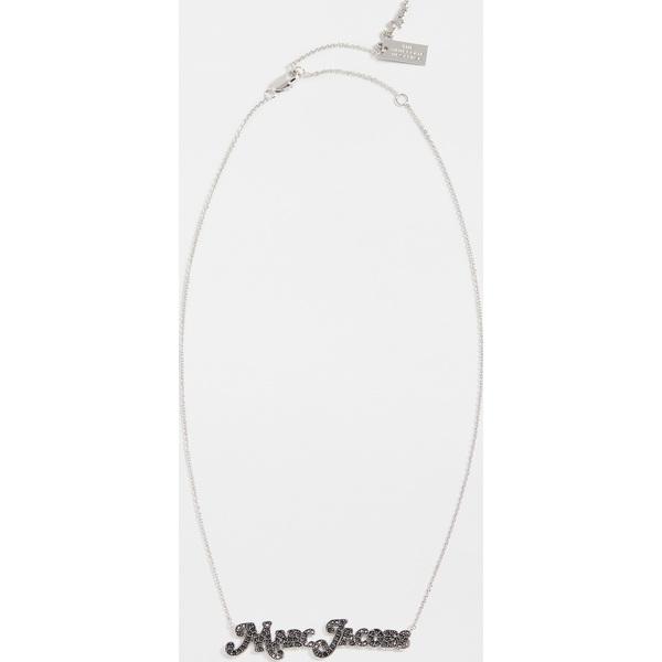 (取寄)マークジェイコブス ニュー ヨーク x ザ ネームプレート ネックレス The Marc Jacobs New York x The Nameplate Necklace JetHematite