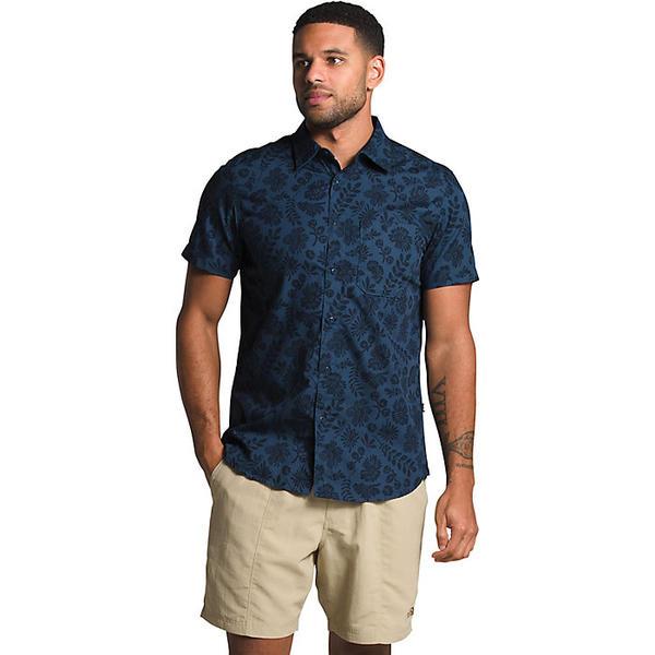 (取寄)ノースフェイス メンズ ベイトレイル パターン SS シャツ The North Face Men's Baytrail Pattern SS Shirt Shady Blue Wallflower Tonal Print