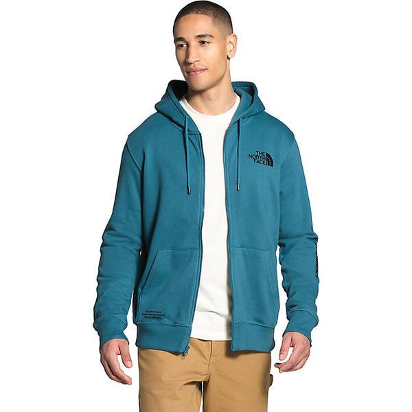 (取寄)ノースフェイス メンズ ブランド プラウド フル ジップ フーディ The North Face Men's Brand Proud Full Zip Hoodie Mallard Blue / TNF Black