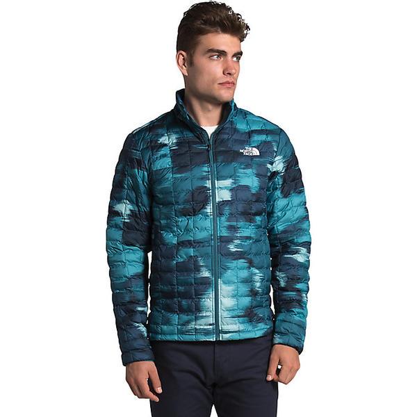 【マラソン ポイント10倍】(取寄)ノースフェイス メンズ サーモボール エコ ジャケット The North Face Men's ThermoBall Eco Jacket Mallard Blue Vapor Ikat Print