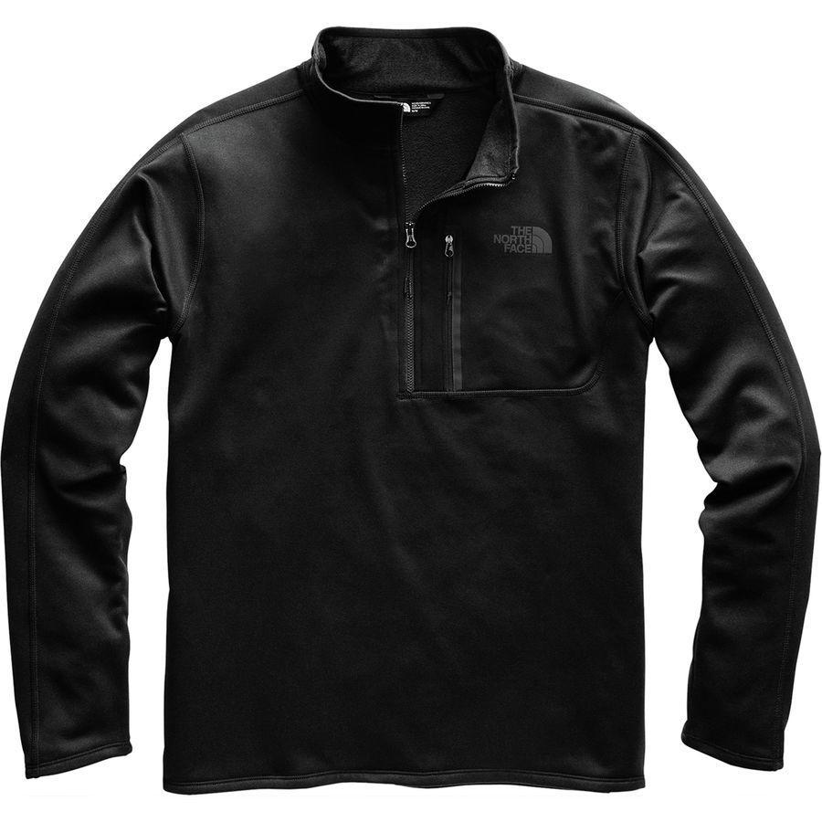 【マラソン ポイント10倍】(取寄)ノースフェイス メンズ キャニオンランズ 1/2-Zipプルオーバー フリース ジャケット The North Face Men's Canyonlands 1/2-Zip Pullover Fleece Jacket Tnf Black