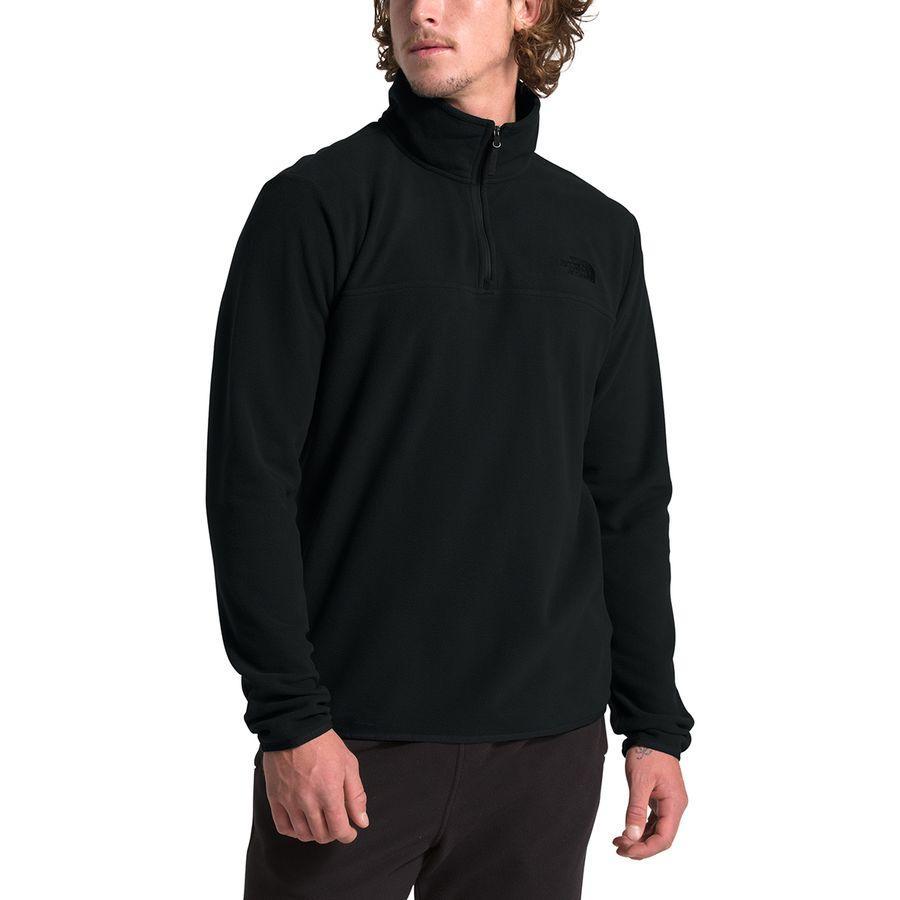 【マラソン ポイント10倍】(取寄)ノースフェイス メンズ TKA グレイシャー 1/4-Zip フリース ジャケット The North Face Men's TKA Glacier 1/4-Zip Fleece Jacket Tnf Black/Tnf Black