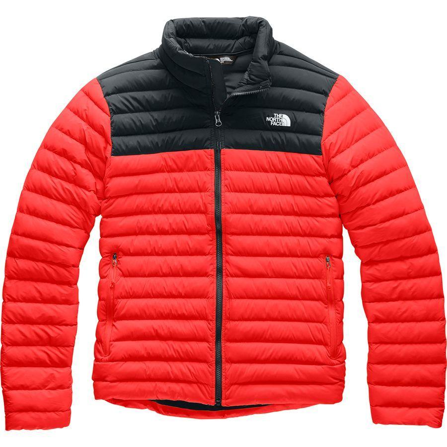 【マラソン ポイント10倍】(取寄)ノースフェイス メンズ ストレッチ ダウン ジャケット The North Face Men's Stretch Down Jacket Fiery Red/Tnf Black