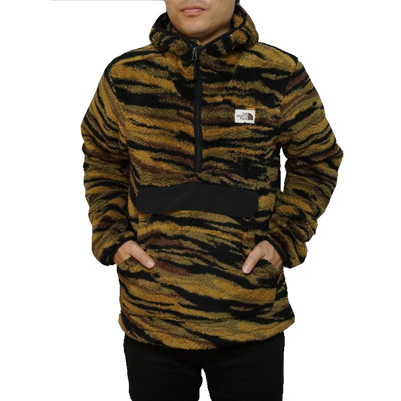 ノースフェイス メンズ フリースジャケット 厚手 キャンプシェア プルオーバー フリースパーカー カモ柄 The North Face Men's Campshire Pullover Hoodie British Khaki Tiger Camo Print