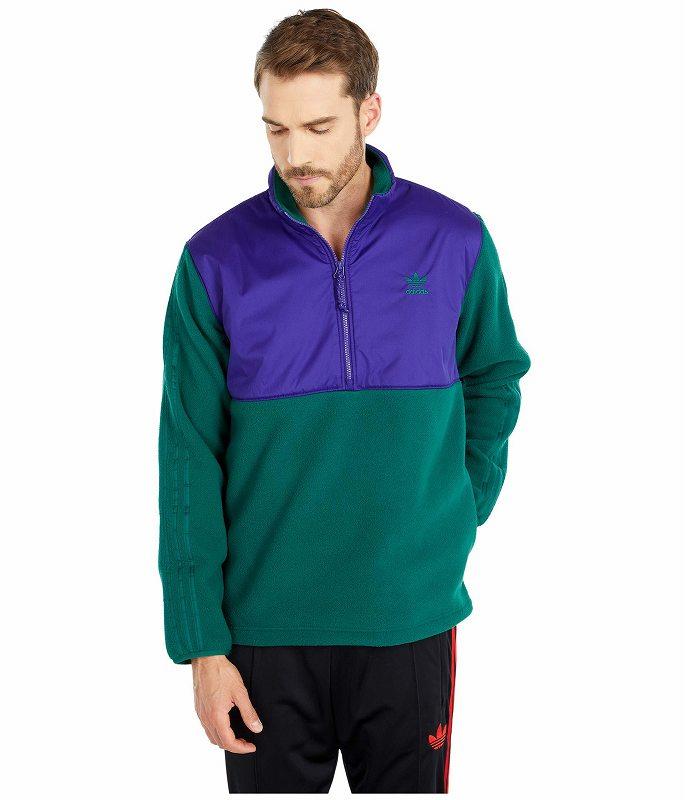(取寄)アディダス オリジナルス メンズ ウィンターライズド 1/2 ジップ トップ adidas originals Men's adidas Originals Winterized 1/2 Zip Top Collegiate Green/Collegiate Purple