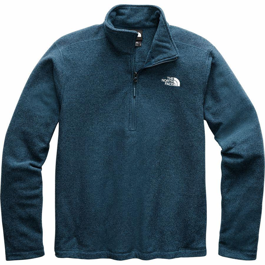 【マラソン ポイント10倍】(取寄)ノースフェイス メンズ テクスチャ キャップ ロック 1/4-Zip フリース ジャケット The North Face Men's Textured Cap Rock 1/4-Zip Fleece Jacket Blue Wing Teal