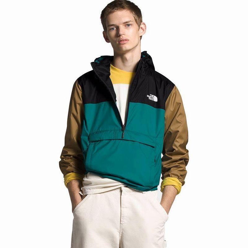 (取寄)ノースフェイス メンズ Fanorak ウインドブレーカー ウィンドブレーカー The North Face Men's Fanorak Windbreaker Fanfare Green/Tnf Black/British Khaki