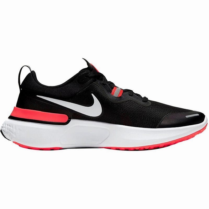 (取寄)ナイキ メンズ リアクト マイラー ランニング シューズ Nike Men's React Miler Running Shoe Running Shoes Black/White-Laser Crimson-Oil Green