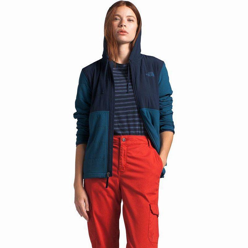 (取寄)ノースフェイス レディース マウンテン トレーナー 3.0フルジップ パーカー The North Face Women Mountain 3.0 Full-Zip Hoodie Sweatshirt Urban Navy/Blue Wing Teal