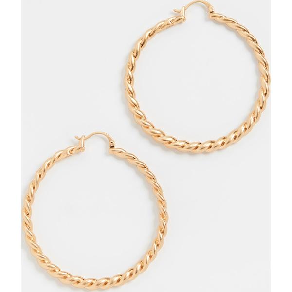 (取寄)トリーバーチ レディース トルサード フープ ピアス Tory Burch Women's Torsade Hoop Earrings RolledBrass