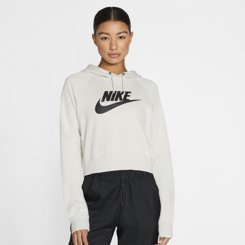 (取寄)ナイキ レディース エッセンシャル クロップ フーディ Nike Women's Essential Crop Hoodie Light Bone Black