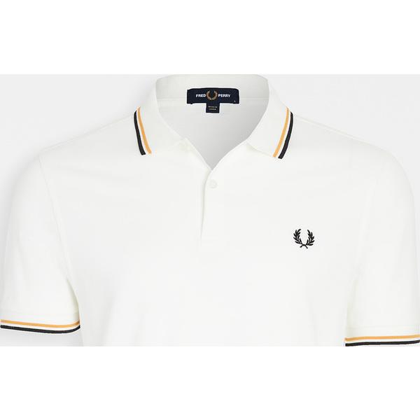 (取寄)フレッドペリー ツイン ティップ シャツ Fred Perry Twin Tipped Shirt Snow Gold Black