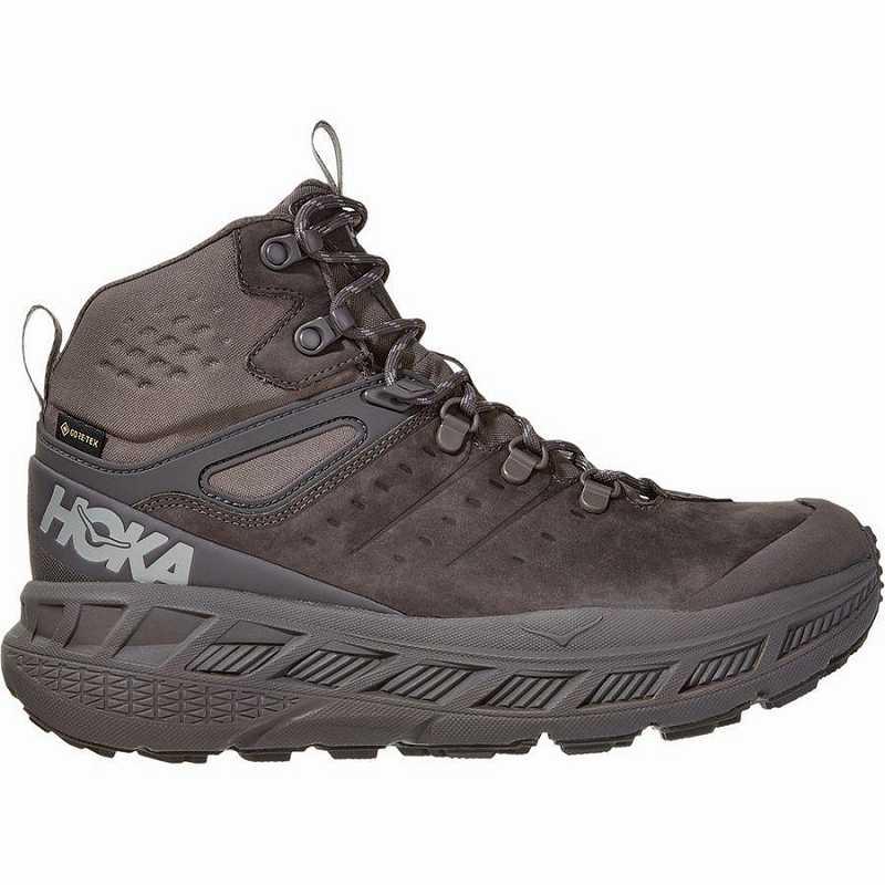 (取寄)ホカ オネ オネ メンズ スティンソン ミッド Gtx ハイキング シューズ HOKA ONE ONE Men's Stinson Mid GTX Hiking Shoe Dark Gull Grey/Drizzle