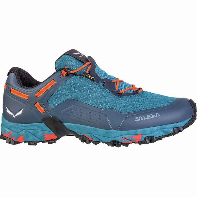 (取寄)サレワ メンズ スピード ビート Gtx トレイル ランニング シューズ Salewa Men's Speed Beat GTX Trail Running Shoe Running Shoes Premium Navy/Spicy Orange