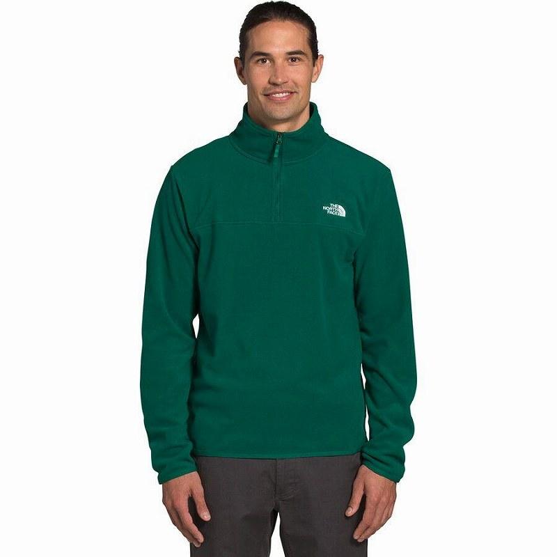 (取寄)ノースフェイス メンズ TKA グレイシャー 1/4-Zip フリース ジャケット The North Face Men's TKA Glacier 1/4-Zip Fleece Jacket Evergreen