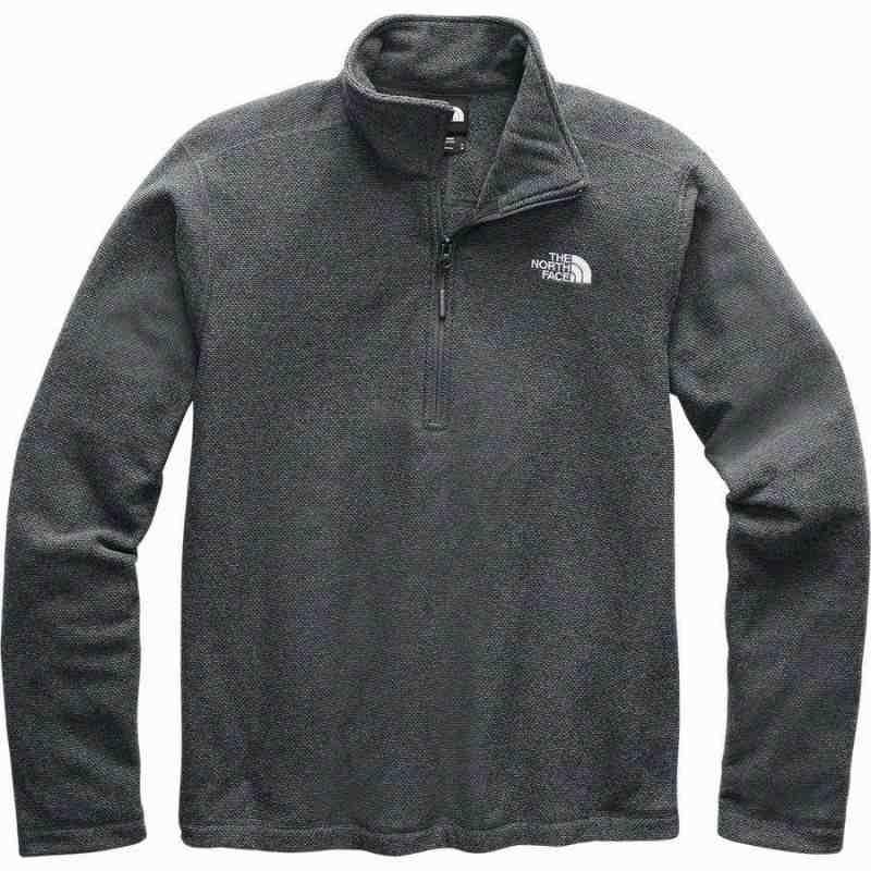 (取寄)ノースフェイス メンズ テクスチャ キャップ ロック 1/4-Zip フリース ジャケット The North Face Men's Textured Cap Rock 1/4-Zip Fleece Jacket Asphalt Grey