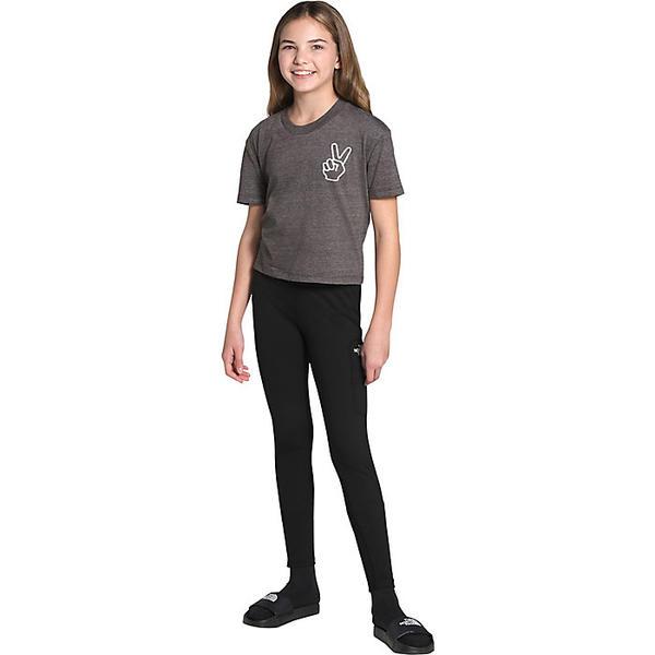 The North Face 正規品スーパーSALE×店内全品キャンペーン ノースフェイス レギンス キッズ ガールズ レディース スパッツ アウトドア ブランド Legging カジュアル Black Girls' Essential SEAL限定商品 送料無料 女の子 取寄 エッセンシャル TNF