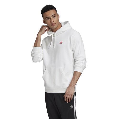 (取寄)アディダス オリジナルス メンズ エッセンシャル フーディ Adidas originals Men's Essential Hoodie White Scarlet